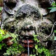 Public Fountain In Palma Majorca Spain Art Print
