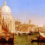 selous Henry Courtney A View Along The Grand Canal With Santa Maria Della Salute Henry Courtney Selous Art Print