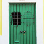 Wooden Door In Old San Juan, Puerto Rico Art Print