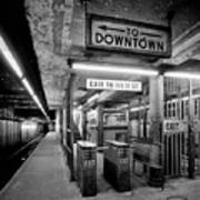 110th Street And Lenox Avenue Station - New York City Art Print