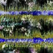 11362 Child Of The Universe With Lyrics By Barclay James Harvest Art Print