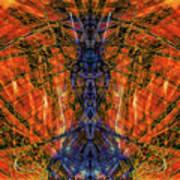 11450 Summer Fire Mask 32 Version 2 - God Of Fire Art Print