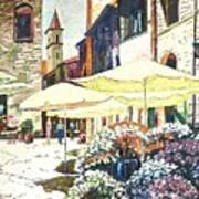 Italian Piazza Art Print