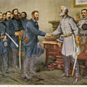 Lees Surrender 1865 Art Print by Granger