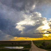 May Nebraska Storm Cells Art Print