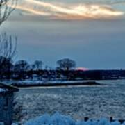 Sunset Over Obear Park In Snow Art Print