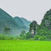 The Beautiful Karst Rural Scenery Art Print
