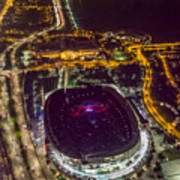 The Grateful Dead At Soldier Field Aerial Photo Art Print