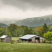 1209-1116 - Boxley Valley Barn Art Print by Randy Forrester