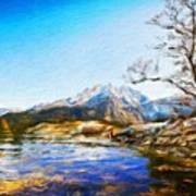Nature Landscape Graphics Art Print