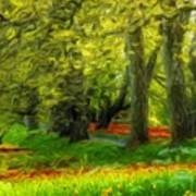 Nature Pictures Of Oil Paintings Landscape Art Print
