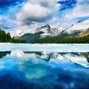 Nature Landscape Oil Painting For Sale Art Print