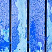 Blue Wood Art Print