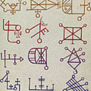 Cabbalistic Signs And Sigils, 18th Art Print