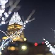 Christmas Lights Holiday Decorations Around Charlotte North Caro Art Print