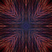 Kaleidoscope Image Created From Light Trails Art Print