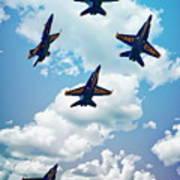 Navy Blue Angels Art Print