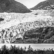 Panoramic View Of Mendenhall Glacier Juneau Alaska Art Print