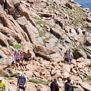 Pikes Peak Marathon And Ascent Art Print