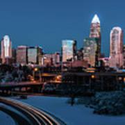 Rare Winter Scenery Around Charlotte North Carolina Art Print