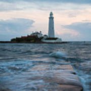 Saint Mary's Lighthouse At Whitley Bay Art Print