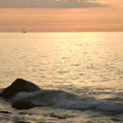 Sunrise At The White Cliffs Of Dover Art Print