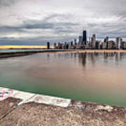 1323 A View From The Breakwall Art Print