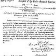 13th Amendment, 1865 Art Print