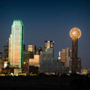 14-0905-141 Dallas Tx Skyline Art Print