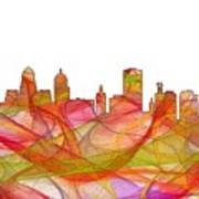 Buffalo New York Skyline Art Print