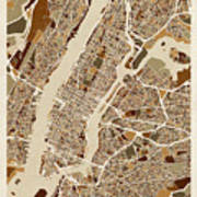 New York City Street Map Art Print