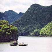 Picturesque Sea Landscape. Ha Long Bay, Vietnam Art Print