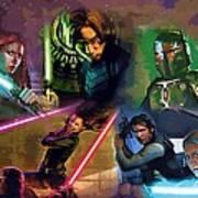 Star Wars Galaxies Art Art Print