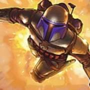 Star Wars On Poster Art Print