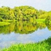 Nature Landscape Illumination Art Print