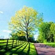 Nature Oil Canvas Landscape Art Print