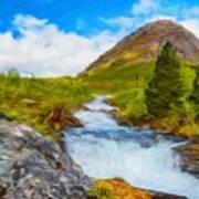 Nature Painted Landscape Art Print