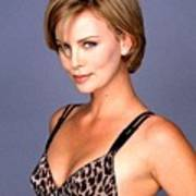 1491 Celebrity Charlize Theron  Art Print