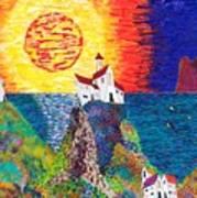 15-23  Village Paradise Art Print