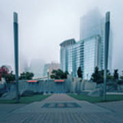Charlotte North Carolina City Skyline And Downtown Art Print
