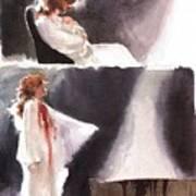 dracula John J Muth Art Print