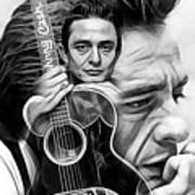 Johnny Cash Collection Art Print