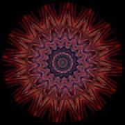 Kaleidoscope Image Created From Light Trails Art Print