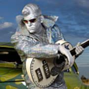 Silver Elvis Art Print