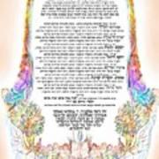 Sukkot-ushpizin Prayer- The Hosts... Art Print