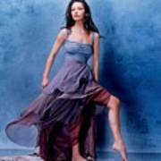 1576 Celebrity Catherine Zeta Jones  Art Print
