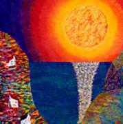 16-7 Village Sun Art Print