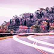 Autumn Season On Blue Ridge Parkway Art Print