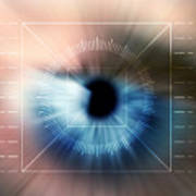 Biometric Eye Scan Art Print