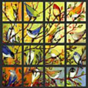 16 Birds Art Print by Jennifer Lommers